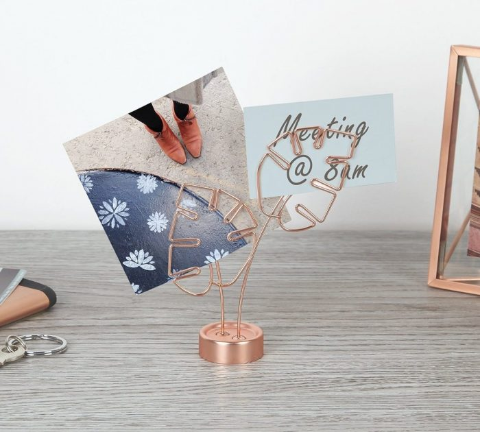 Organic Leaf Design Photo Holder