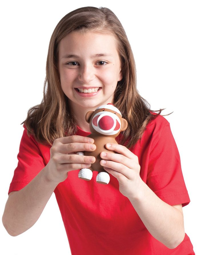 Sock Monkey Popper Toy