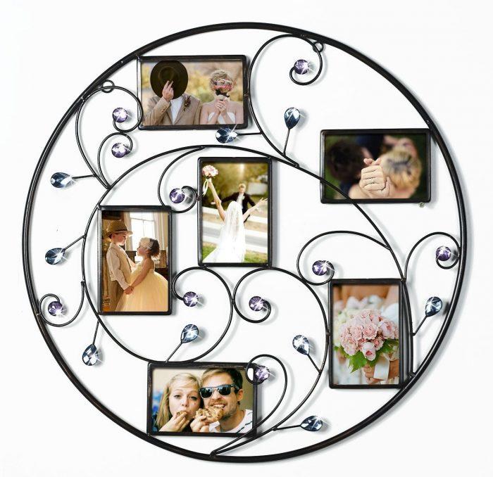 Unique Circle Vine Style Photo Frame