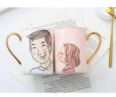 Lovely Girl and Sunshine Boy Couples Coffee Mugs