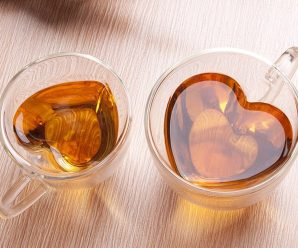 Romantic Heart Shaped Tea Cups for Couple