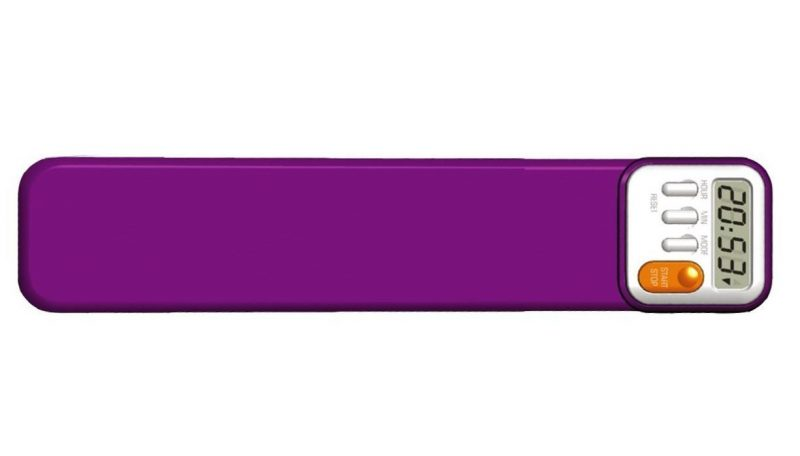 Purple Digital Time Bookmark