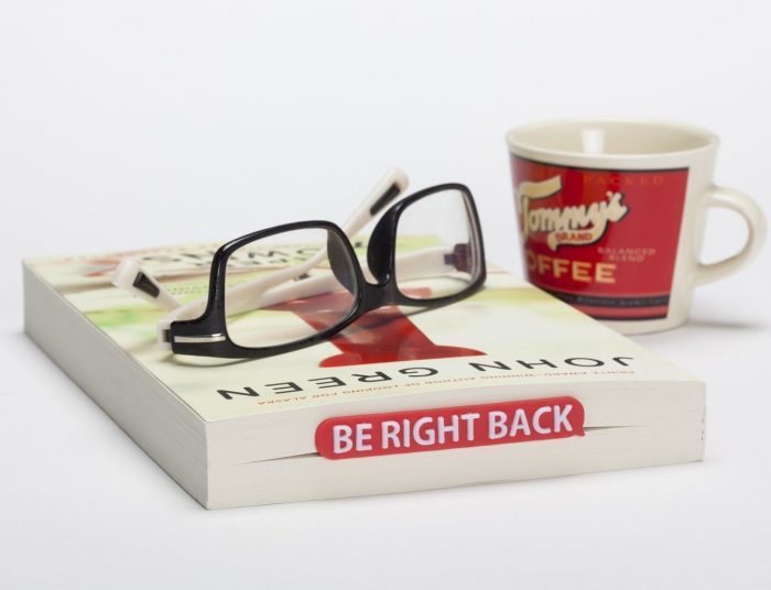 Red Be Right Back Bookmark