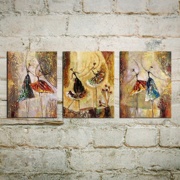 Ballet Dancers Hand Painted Wall Decoration