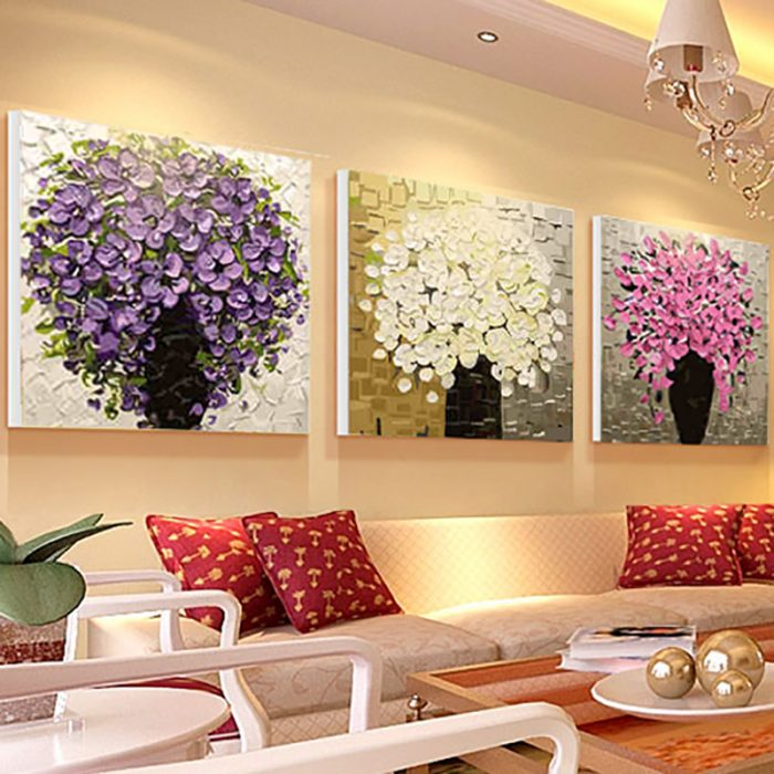 Beautiful Trees Designed Hand Painted Wall Decoration