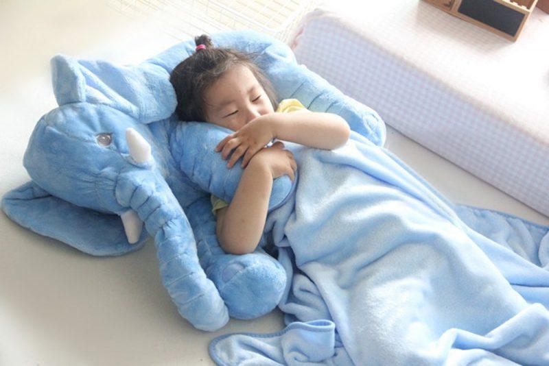 Blue Elephant Sleeping Pillow