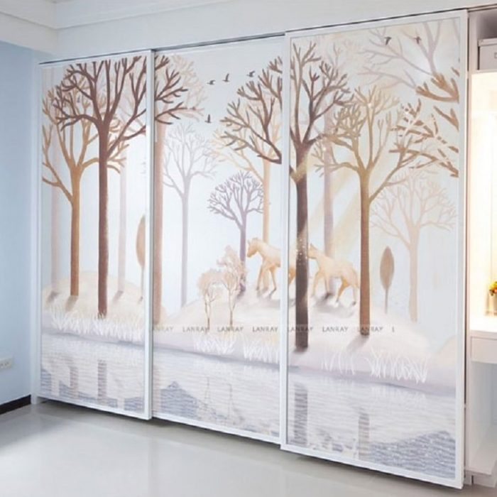 Brown Forest In the Moonlight Window Film