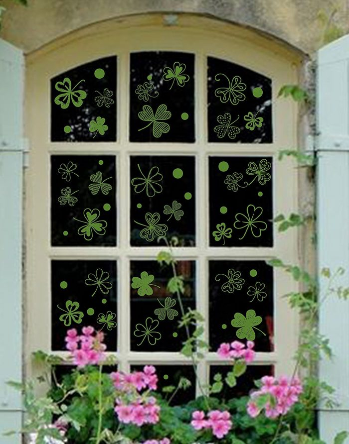 Clover Static Decal Privacy Window Film