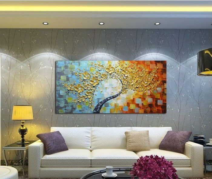 Colorful Ready to Hang Hand Painted Wall Decoration