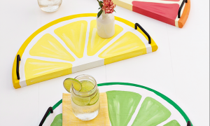 Colorful Summer Serving Trays