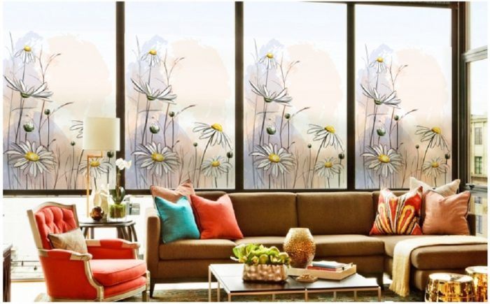 Daisy Green Decorative Window Film