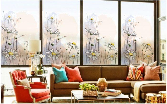 Daisy Green Decorative Window Film