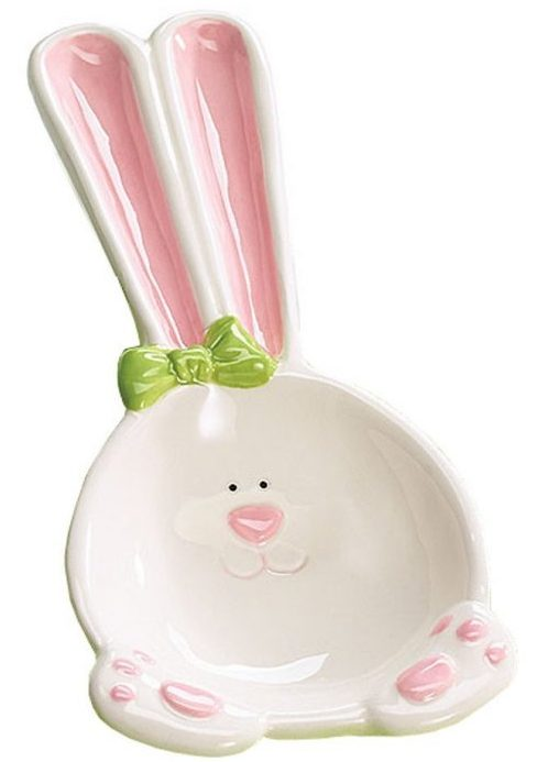 Easter Bunny Ceramic Spoon Rest