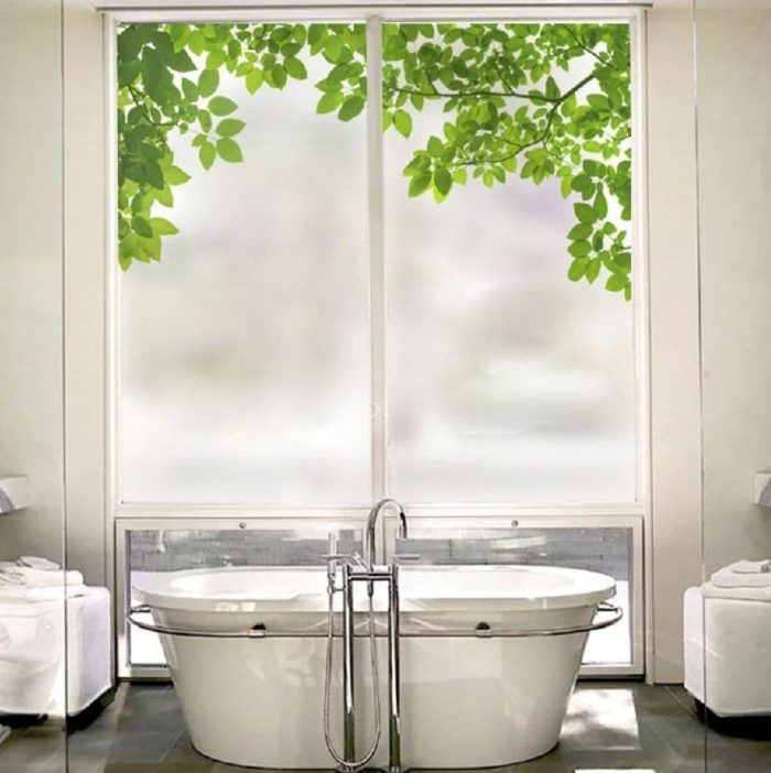 Green Leaves Privacy Window film