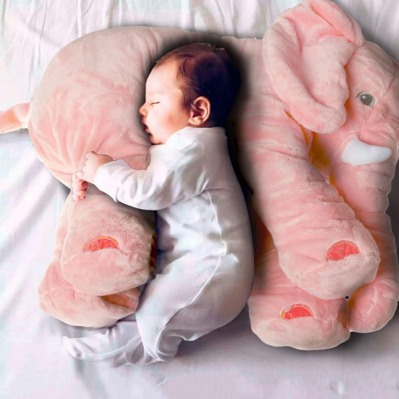 Pink Elephant Sleeping Pillow