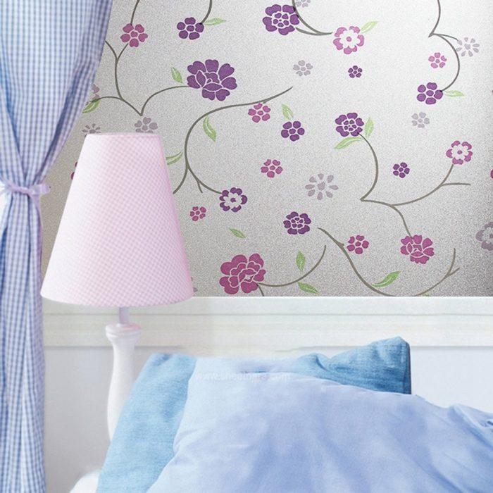Purple Flower Window Decorative Film