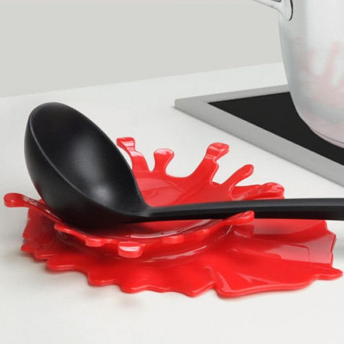 Red Silicone Spoon Rest