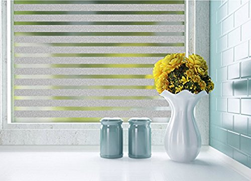 Stripe Frosted Privacy Decorative Window Film