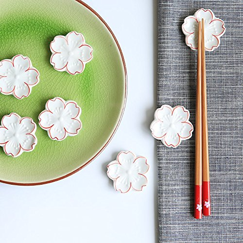 Elegant Sakura Flower Design Chopstick Rest