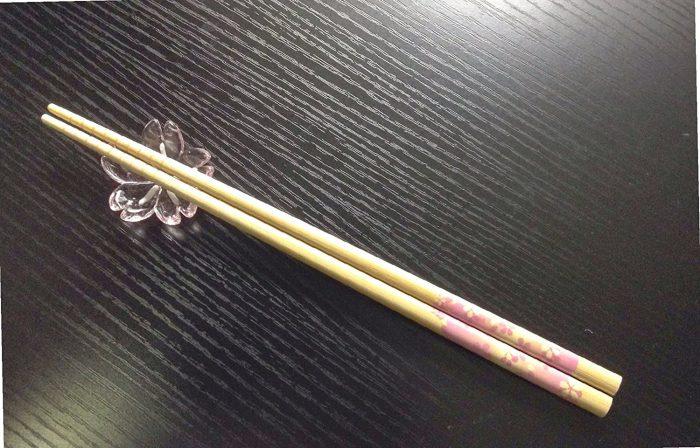 Pink Blossom Glass Chopstick Rest