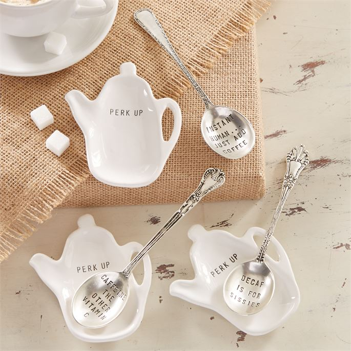 White Instant Coffee Spoon Rest