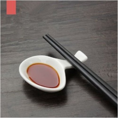 White Porcelain Chopstick Rest