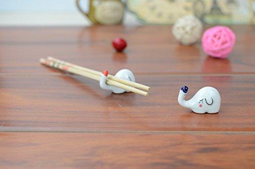 White Small Elephant Chopsticks Rest