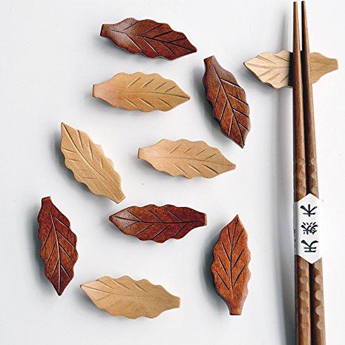 Wooden Leaf Shape Chopstick Rest