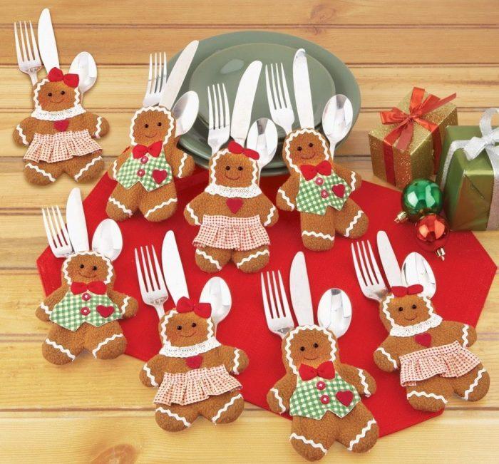 Gingerbread Utensil Holder
