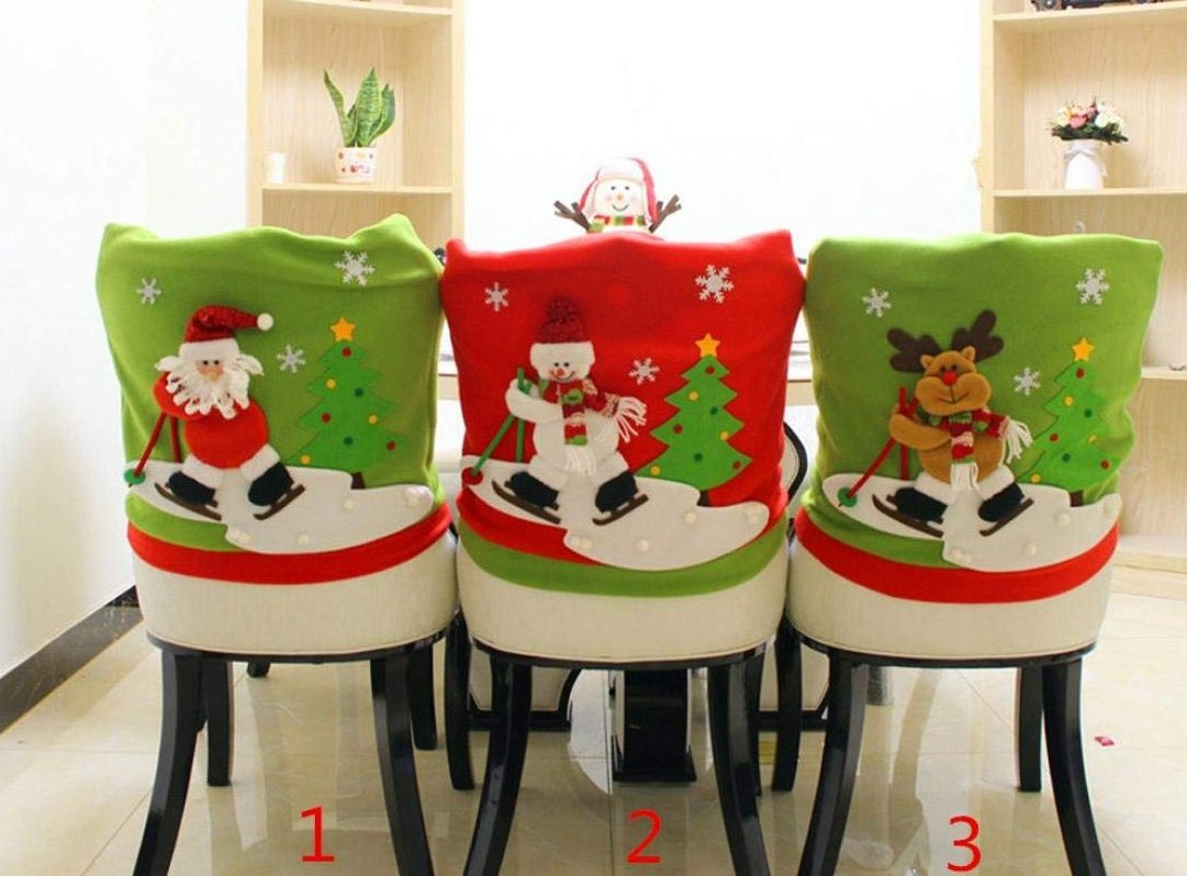 Christmas Santa Claus Chair Back Cover