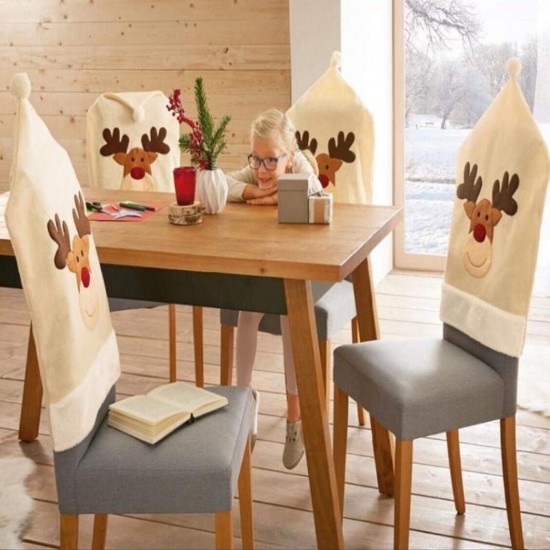 Deer Hat Chair Covers Christmas Decor Decorations Dinner Chair