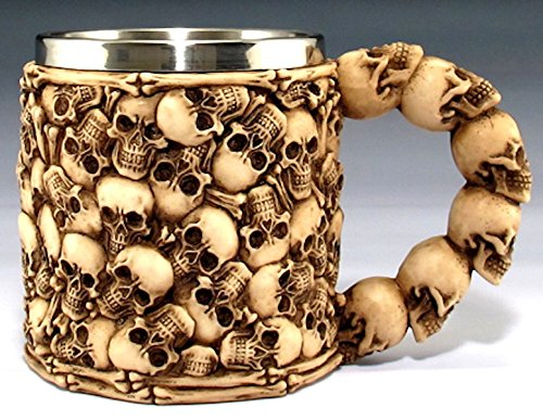 Amazing Multiple Skulls Ossuary Halloween Coffee Mug