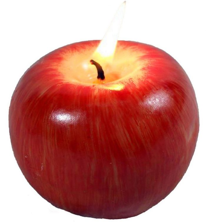 Apple-Shaped Fragrant Christmas Candle