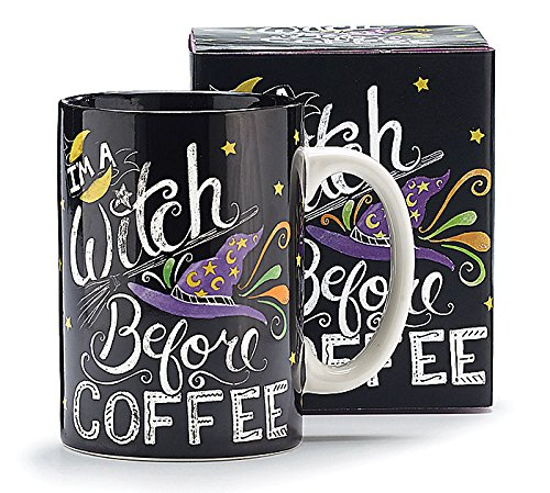 Black Witch Theme Halloween Coffee Mug