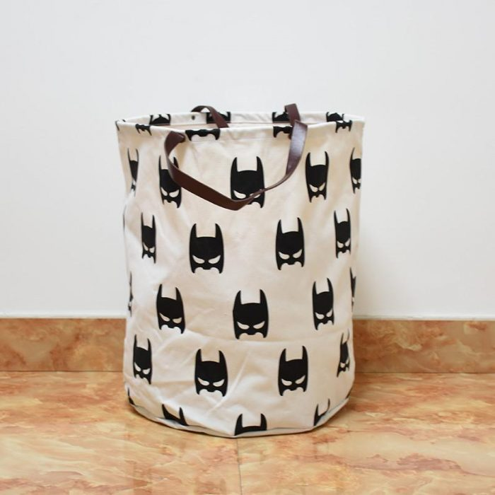 Black and White Batman Pattern Laundry Hamper