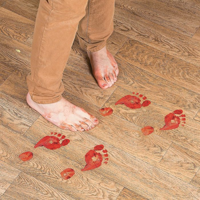 Bloody Footprints Floor Clings Halloween Party Decor