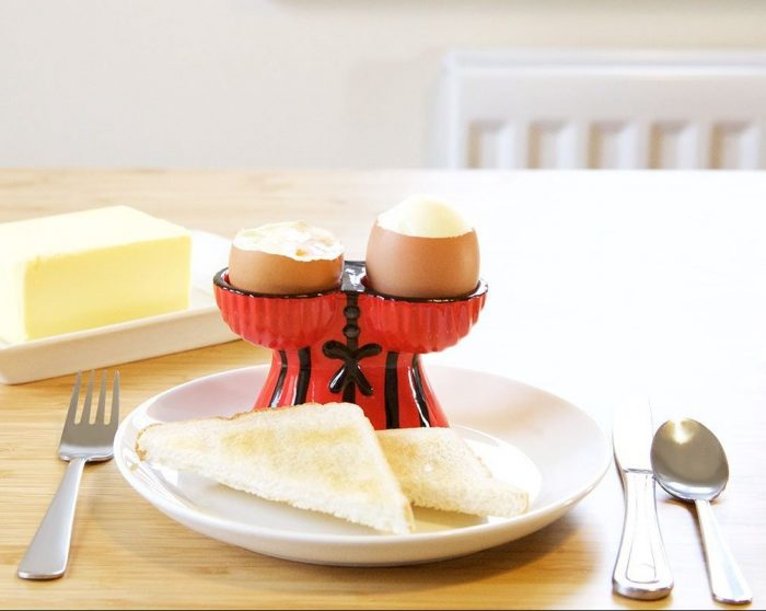 Corset Red Double Boiled Egg Holder