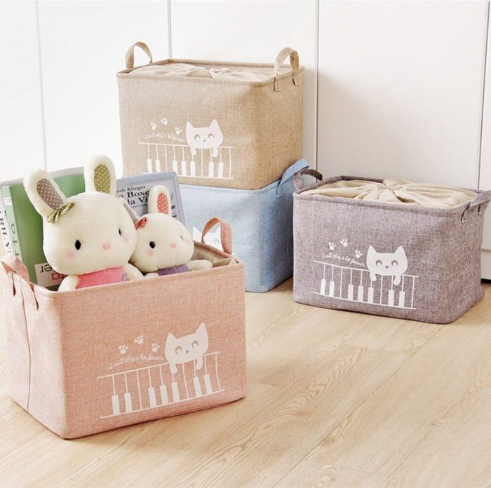 Cotton Linen Foldable Laundry Hampers