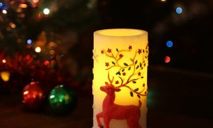 Decorative Reindeer Christmas Candle