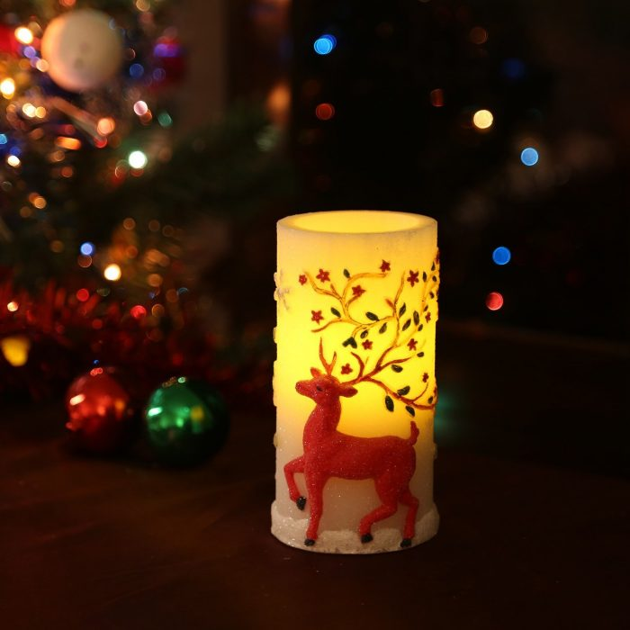 Decorative Reindeer Christmas Candle