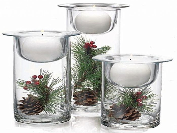 Floral Sphere Ball Christmas Candle