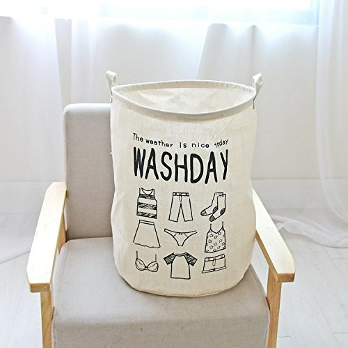Foldable Cylindric Laundry Hamper