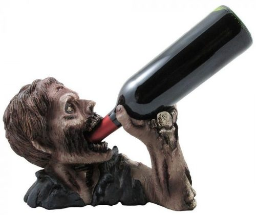 Frightening Zombie Wine Bottle Halloween Party Decor