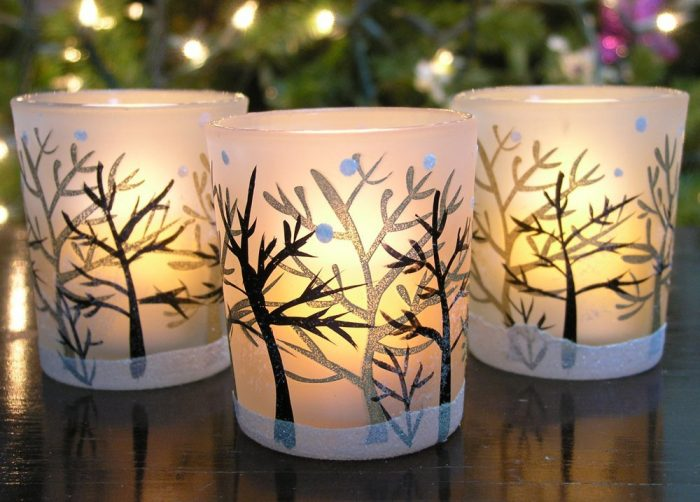 Frosted Glass Votive Christmas Candle