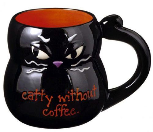 Funny Black Cat Halloween Coffee Mug