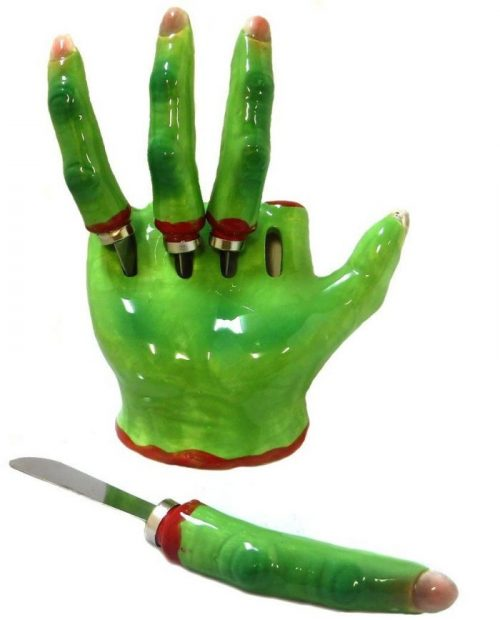 Green Witch Hand Knife Dip Halloween Party Decor