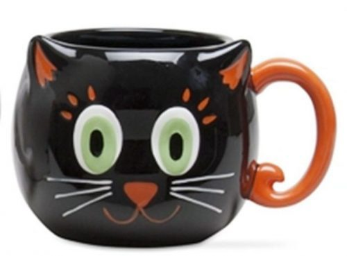 Halloween Cat Pattern Coffee Mug