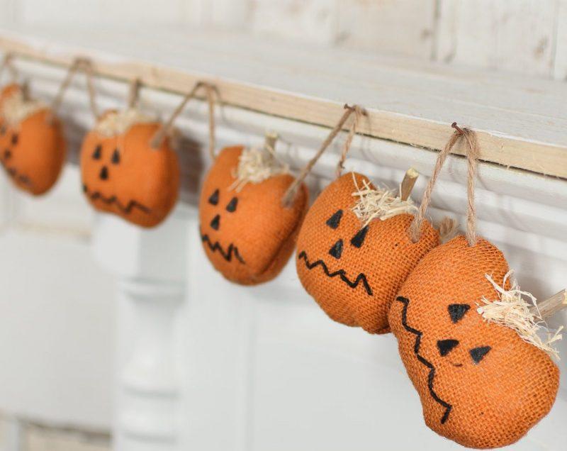 Halloween Jack O Lantern Pumpkin Garland