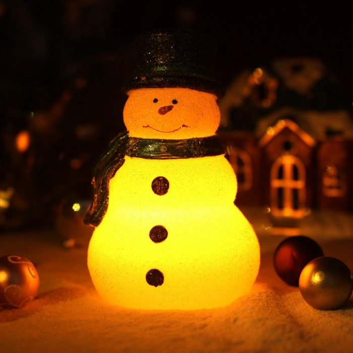 Lovely Snowman Christmas LED Candle