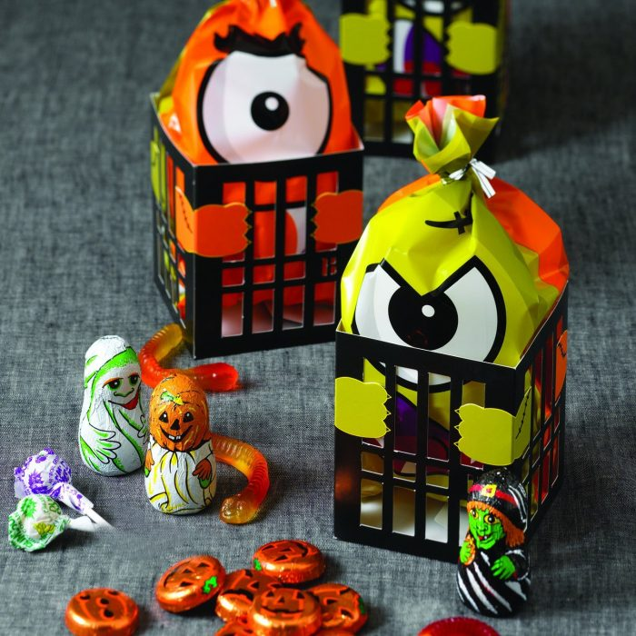 Multicolor Count Monster Halloween Party Decor Bags